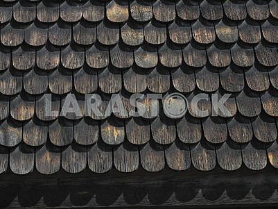 Wooden roof in skansen