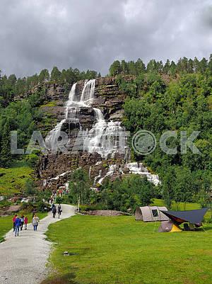 Waterfall Tvindefossen