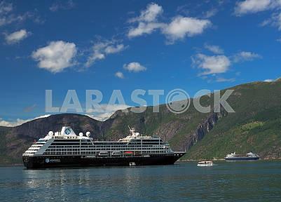 Cruise ship Azamara in Hardangerfjord