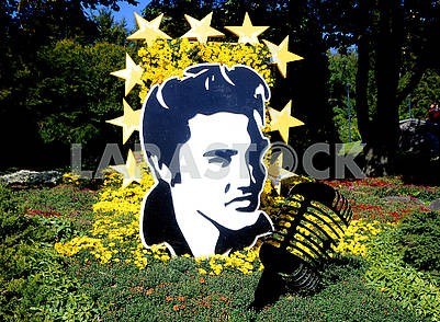 The composition of flowers Elvis Presley