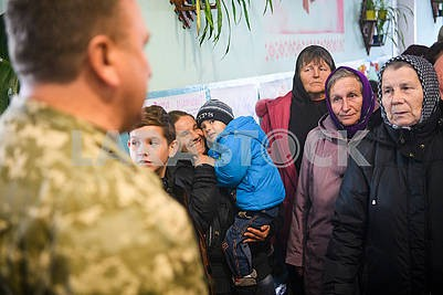 Residents of evacuated villages