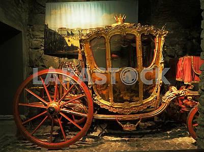 Королевская карета в Национальном музее Швеции