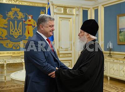 Patriarch Filaret and Petro Poroshenko