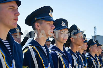 Cadets of the Kherson Maritime Academy