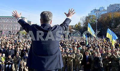 Петр Порошенко на Софийской площади