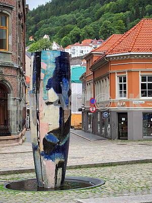Фонтан-тумба в Бергене