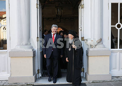Petro Poroshenko and Patriarch Bartholomew
