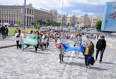 Mothers march participants