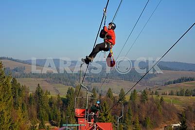 Tourist rescue exercises