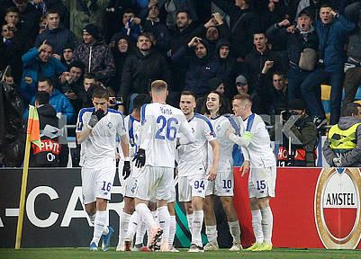 Dynamo rejoice after scoring a goal