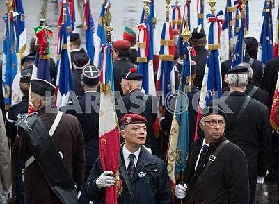 Люди с флагами Франции