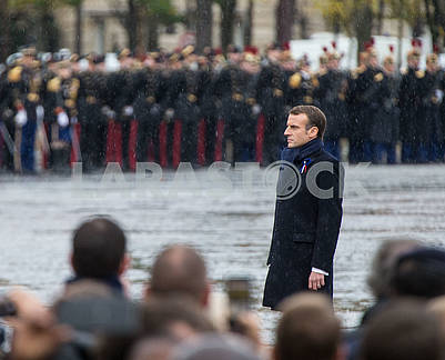 Emmanuel Macron at the Arc de Triomphe