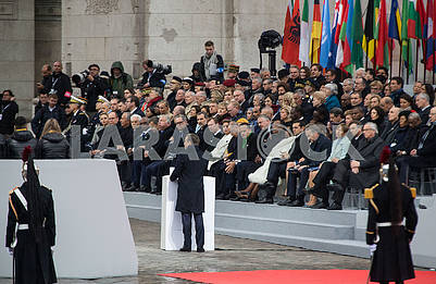 Guests of the ceremony at the Arc de Triomphe