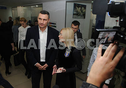 Vitali Klitschko and Natalia Shamray