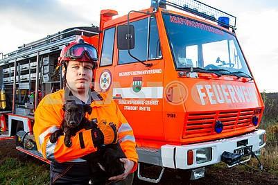 Спасатель и собака
