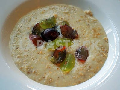Porridge with cherry plum