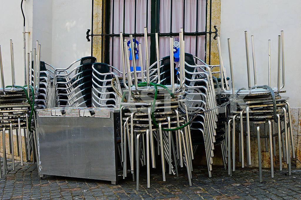 Складні крісла та столи вуличного кафе — Изображение 76435