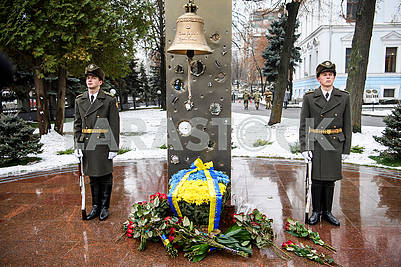 Memorial to the memory of Ukrainian soldiers