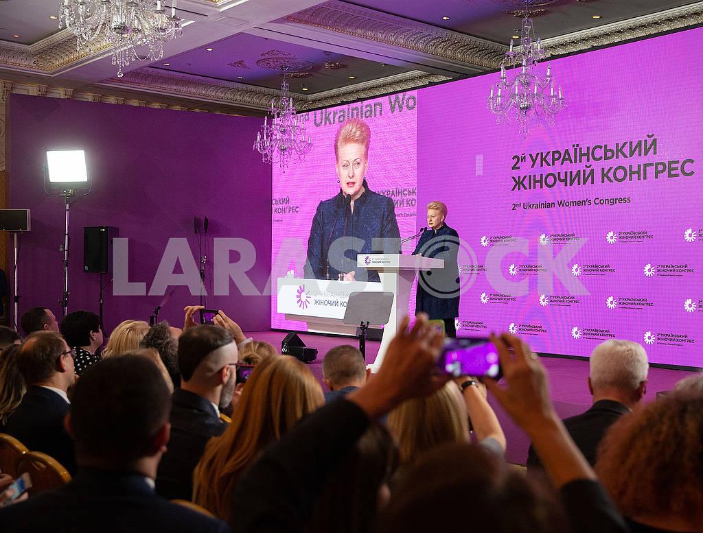 Даля Грибаускайте выступает на женском конгрессе — Изображение 76885
