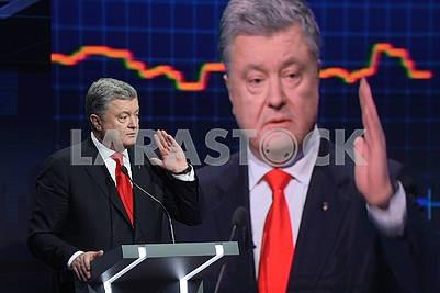 Петр Порошенко в телестудии