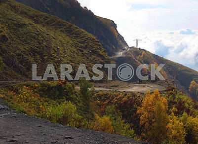 Road to the pass in Kakheti