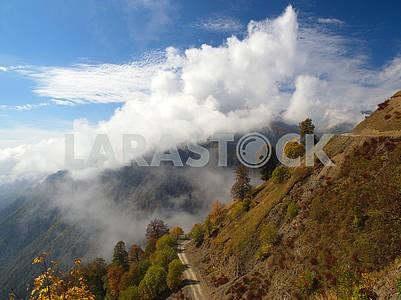 Mountain road to Tusheti