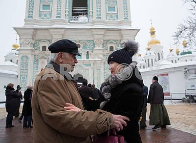 Дмитро Павличко, Ирина Геращенко на Софийской площади