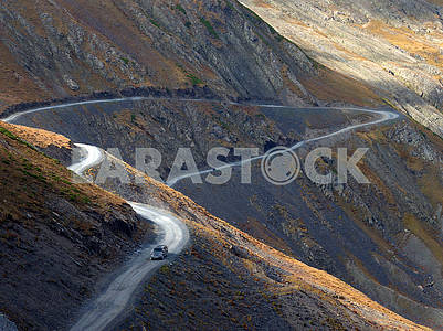 Mountain road in the Caucasus