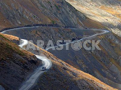 Mountain road in the Caucasus