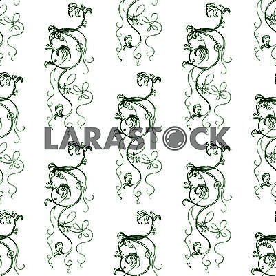 Ancient floral seamless background