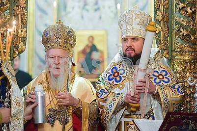 Patriarch Bartholomew and Metropolitan Epiphanius