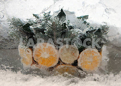 Замороженные лимоны и апельсины