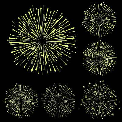 Набор векторных фейерверков, часть 5