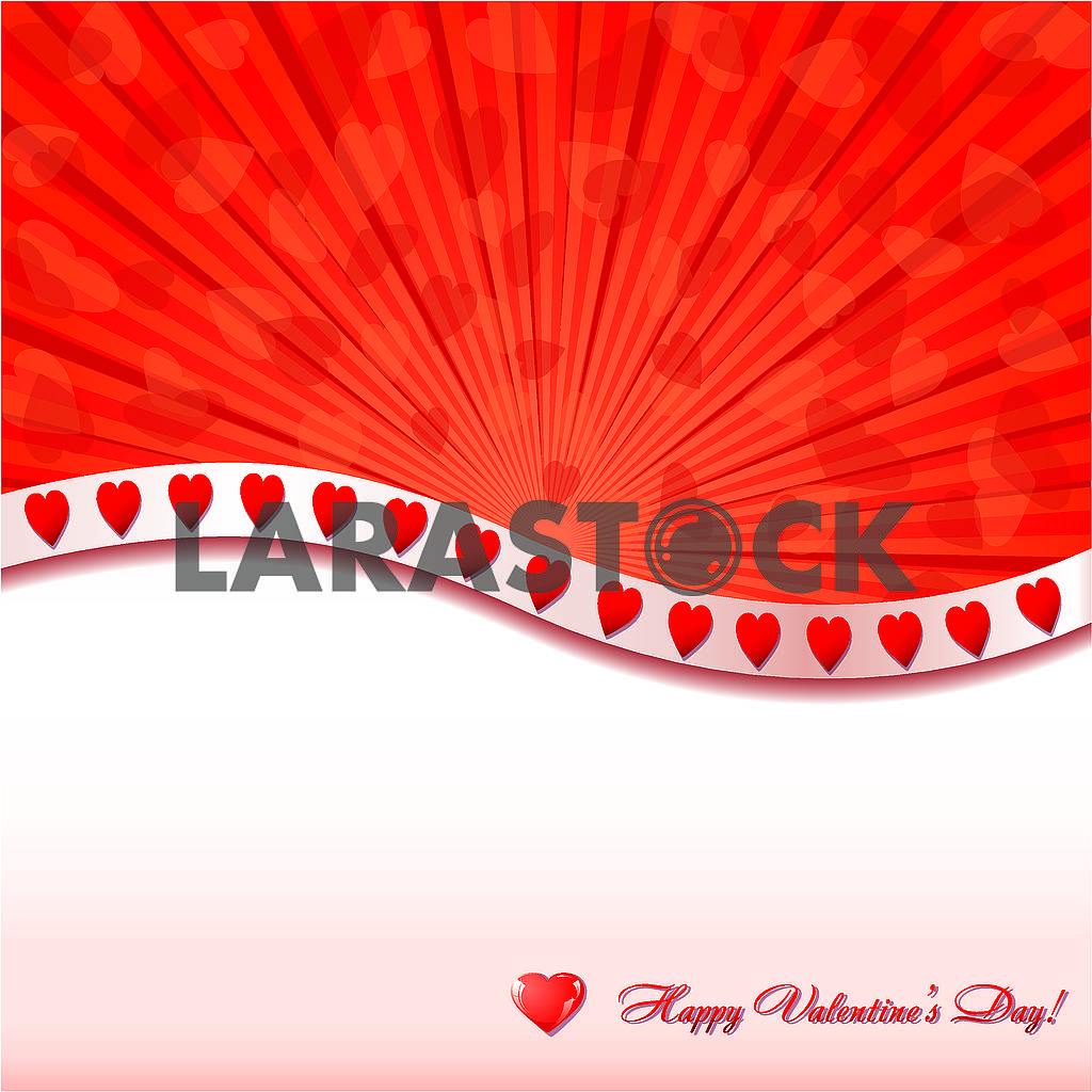 Valentine background withlittle glitter hearts and place for greetings — Image 78149