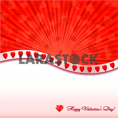 Valentine background withlittle glitter hearts and place for greetings