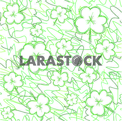 Clover seamless background for St. Patrick's day