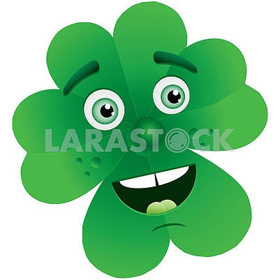 Cute avatar for St. Patrick's Day with fourleafed Clover