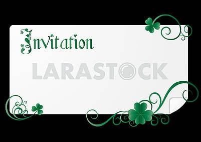 Invitation on St. Patrick's Day Party  on black background