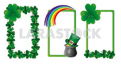Set of banners for St. Patrick's Day. Part  5