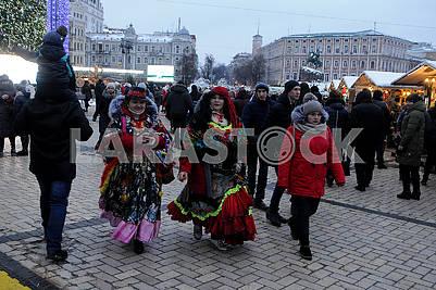 """Участники действа """"Киевская коляда"""""""