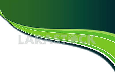 Green abstract simple background with wavy stripes