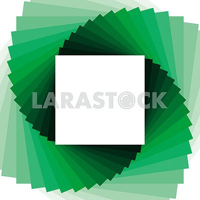 Simple abstract background with green color blend squares