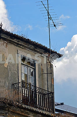 Balcony of an old house