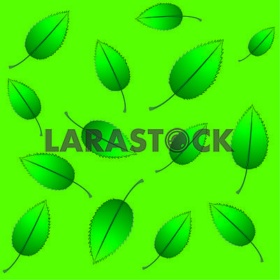 Seamless eco background with green fresh leaves