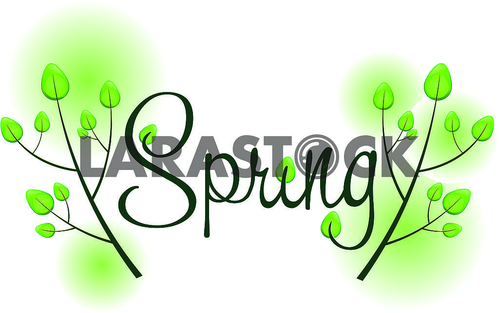Spring background with text — Image 78832