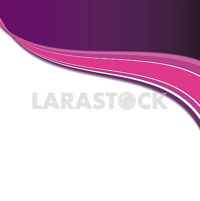Pink abstract background with waved strips