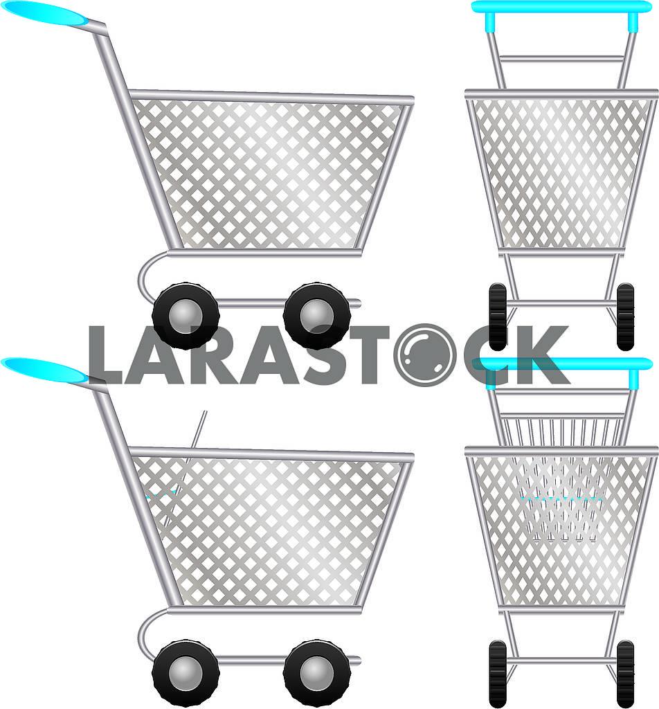 Set of shopping cart for online shop — Image 79252