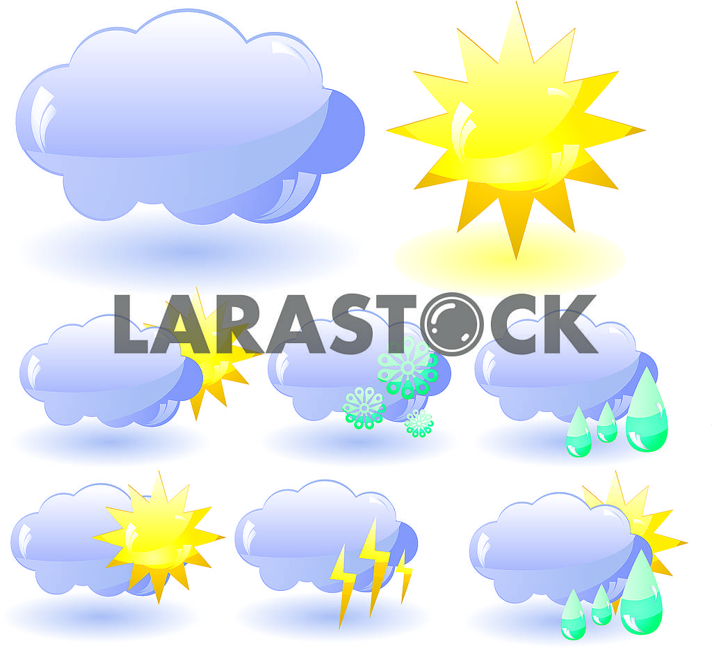 Set of glass Weather icons — Image 79266