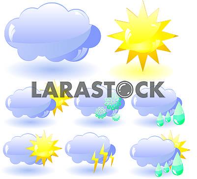 Набор стеклянных иконок Погода