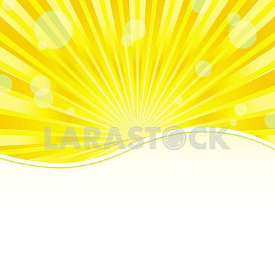 Yellow simple shiny background with place for photo or text